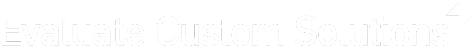 Evaluate Custom Solutions Logo