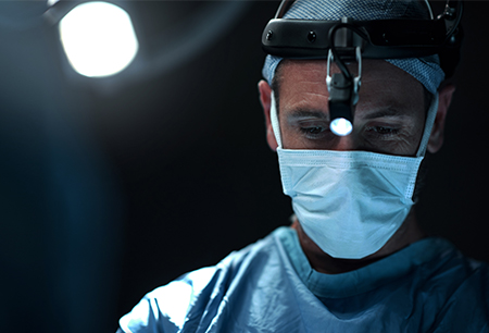 Doctor wearing surgical mask