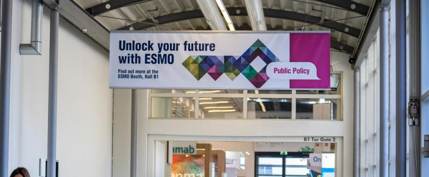 Crowds at the Esmo congress