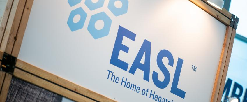 Close up EASL banner